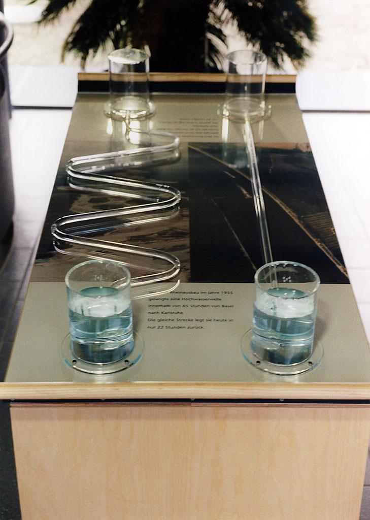 Lehrmodell Fließgeschwindigkeit Rhein